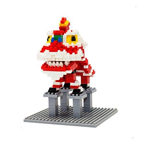 368PCS Lucky Lion Small Building Blocks KLJM-01 Red