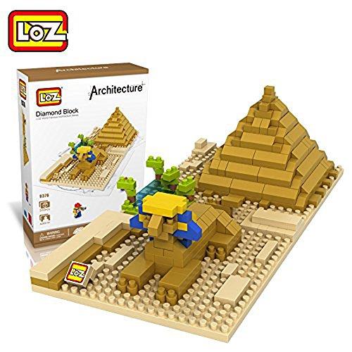 JMarket Small Building Block Set Nanoblock Model of World Famous Buildings Sphinx and Pyramid
