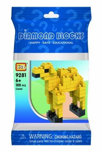 Loz Micro Blocks Camel Model Small Building Block Set Nanoblock Compatible 80 pcs Makes a Great Stocking Stuffer