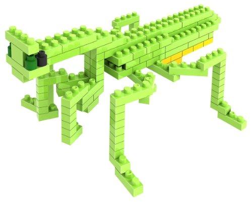 Loz Micro Blocks Mantis Model Small Building Block Set Nanoblock Compatible 120 pcs Makes a Great Stocking Stuffer