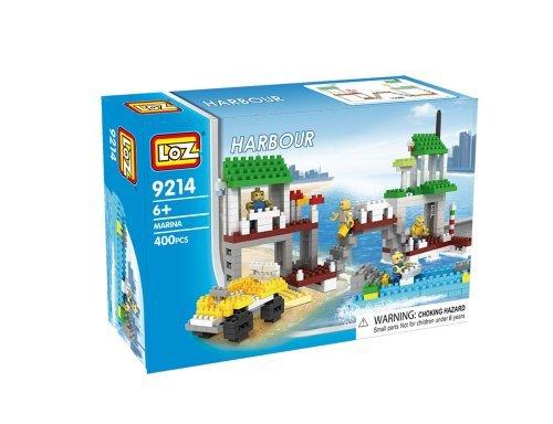 Loz Micro Blocks Marina Harbour Model Small Building Block Set Nanoblock Compatible 400 pcs Makes a Great Stocking Stuffer