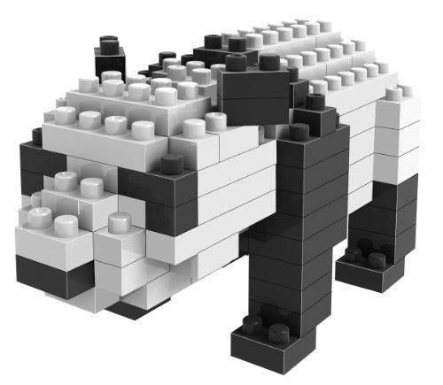 Loz Micro Blocks Panda Model Small Building Block Set Nanoblock Compatible 130 pcs Makes a Great Stocking Stuffer