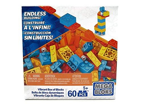 Mega Bloks Set of 60 Small Building Blocks Vibrant Box