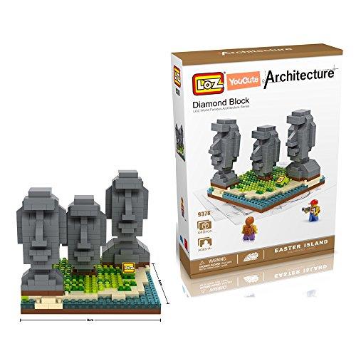 YouCute Loz Micro Blocks easter island Small Building Block Set Nanoblock Compatible 440 pcs