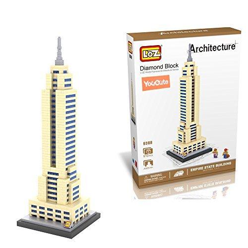 YouCute Loz Micro Blocksempire state building Small Building Block Set Nanoblock Compatible 910 pcs by YouCute