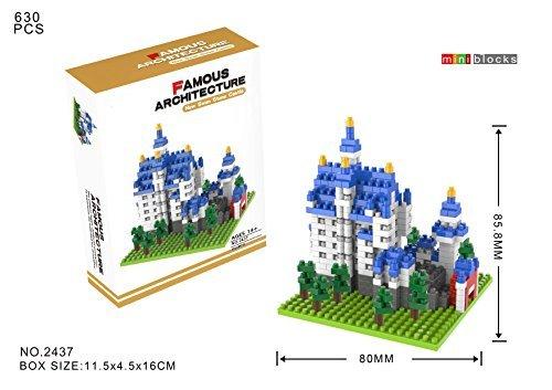 YouCute Micro BlocksNew Swan Stone CastleSmall Building Block Set LOZ Nanoblock Compatible New Swan Stone Castle by YouCute