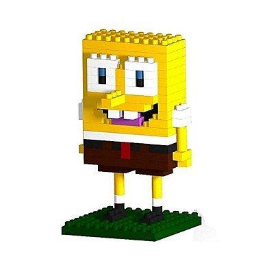 BuW Cute Cartoon Sponge Block 3D DIY Plastic Puzzle Assembling Building Blocks Game Toy for Kids140PCS helps the child develop great imagination