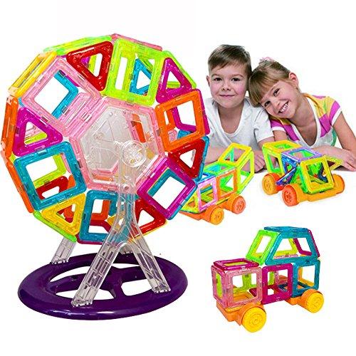 60 Pieces Mini Magnetic Building Blocks Toys Educational Magnetic Designer Bricks Construction Toys For Kids