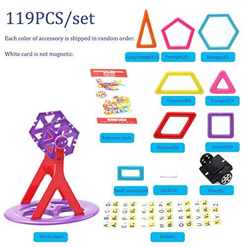 Per 119pcs Magnetic 3D DIY Building Blocks Mini Magnet Construction Toys Magnetic Brick Learning Techniques for Creativity Imagination Brain Development