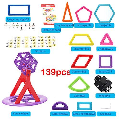 Per 139pcs Magnetic 3D DIY Building Blocks Mini Magnet Construction Toys Magnetic Brick Learning Techniques for Creativity Imagination Brain Development