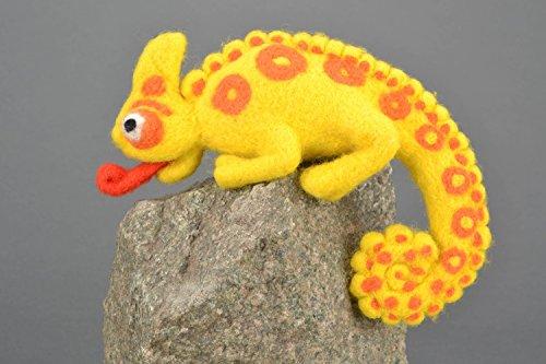 Handmade Felt Toy Chameleon