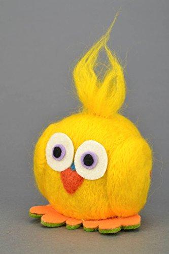 Handmade Felt Toy Yellow Owl