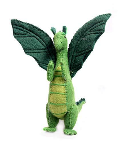 Nivas Collection Dragon Felt Toy Green