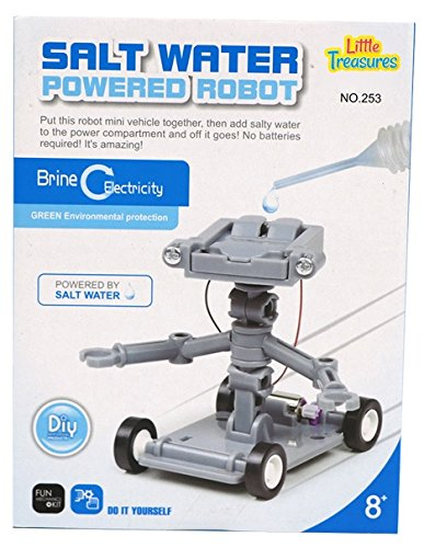 Little Treasures Salt Water Powered Robot Toy Kit - Educational Project Set