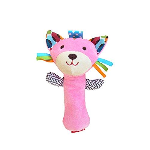 Bonitaperlas Baby Kid Soft Animal Model Handbell Rattles Plush Toy