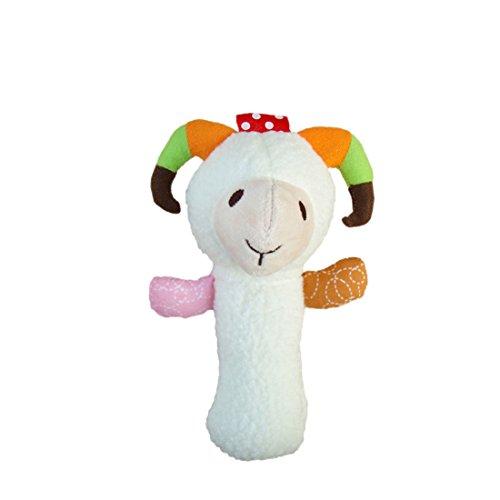 Bonitaperlas Baby Kid Soft Animal Model Handbell Rattles Plush Toysheep
