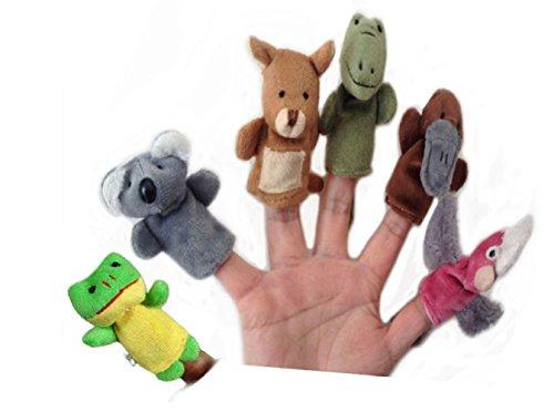 Rukiwa Hot New Animal Finger Puppets Plush Cloth Doll Baby Educational Hand Kids Toy