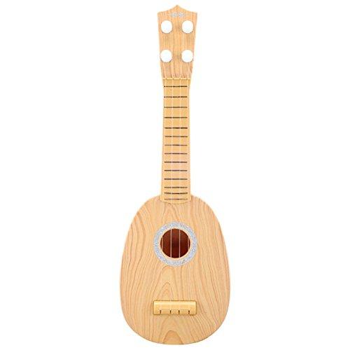 BESTLEE Kids Wooden Ukulele Toy Guitar Musical Instrument Wood Color