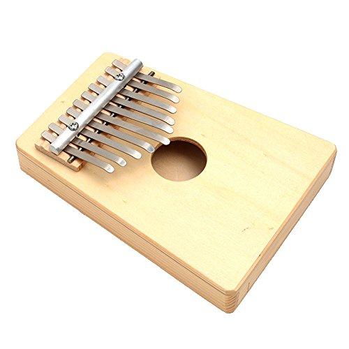 Mbira - TOOGOOR10 Keys Birch Finger Thumb Piano Mbira Music Story Telling Instrument Wood color