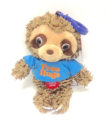Cuddle Barn Sloth Squeezer Musical Plush Clip - 6