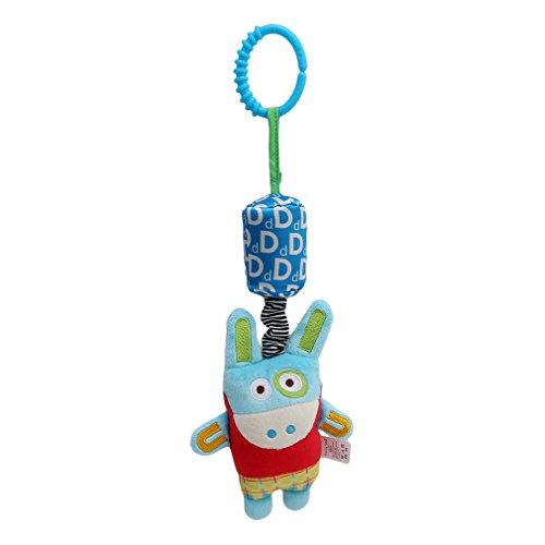 Myhouse Soft Stuffed Animal Plush Toy Elephant Hanging Musical Plush Toy for Crib Stroller