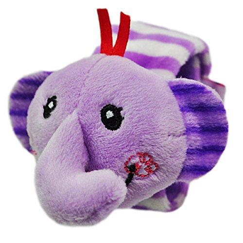 Baby Wrist Rattle Elephant Stuffed Animal Tinkle Play Toys Educational Dolls
