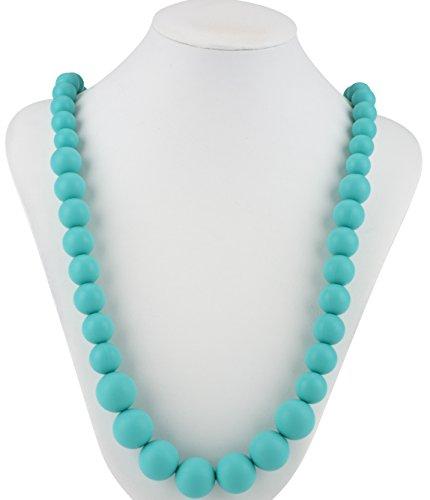 Nuby Teething Trends Round Beads Teething Necklace - Aqua