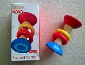 Gigglebaby Barbell Rattle