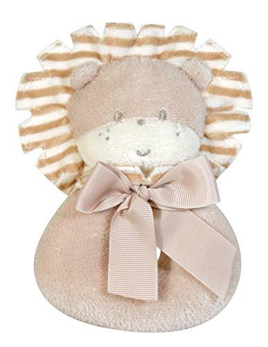 Stephan Baby Gift-Boxed Velvety Plush Ring Rattle Larry The Lion