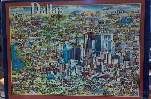 Dallas Vintage Jigsaw Puzzle 1988 City Character Puzzle