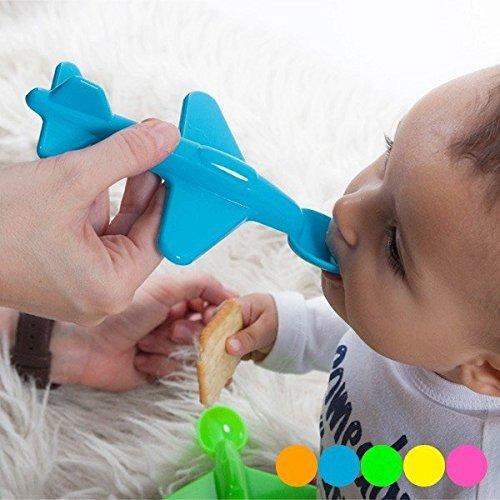 Neon Kids 160008601201086-green Baby Spoon in Plane Format Green by Neon Kids