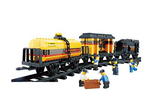 Sluban Building and Construction Blocks M38-B0233 Special Train Building Block Construction Set 328 Piece