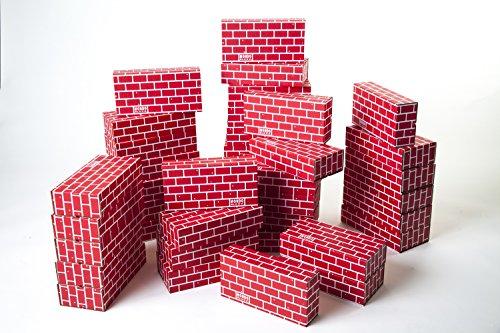 Mondo Bloxx 40 Pack Cardboard Block Brick Set 12x6x3