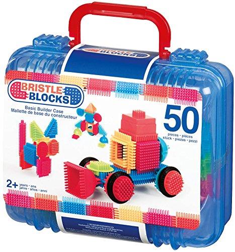 Bristle Blocks 50 Piece Basic Builder case with Handle