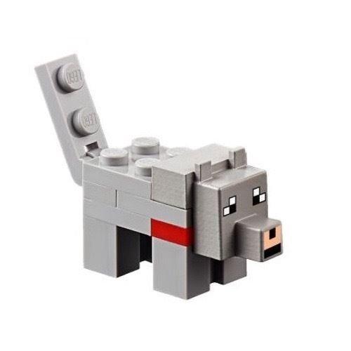 LEGO Minecraft Minifigure Wolf Minifig Grey Animal