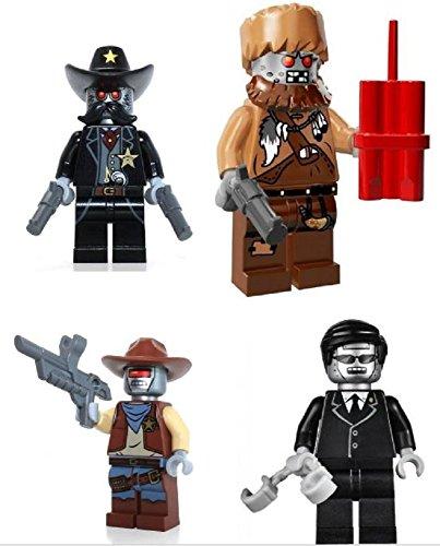 Lego Movie Minifigures Wiley Fusebot Deputron Executron Sheriff Not a Robot Set of 4