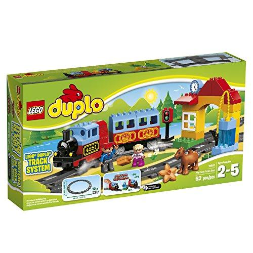 LEGO DUPLO My First Train Set 10507 Preschool Pre-Kindergarten Large Building Block Toys for Toddlers