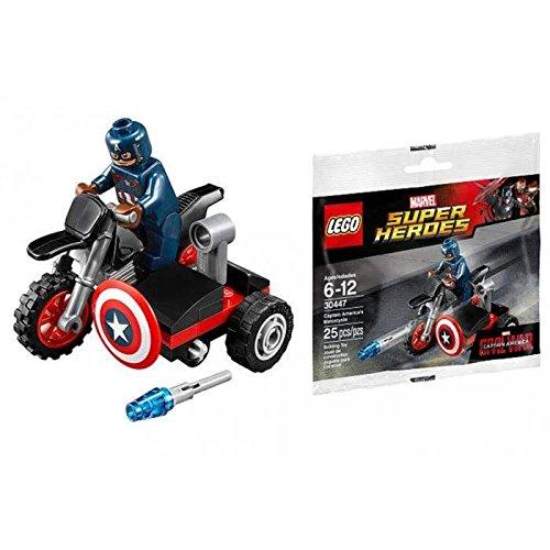 LEGO Marvel Captain America Civil War Captain Americas Motorcycle Mini Set 30447 Bagged