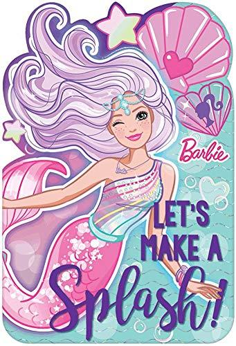 Barbie Mermaid Purple and Aqua Party Postcard Invitations 8 Ct
