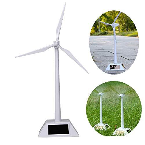 Wiixiong Mini Solar Powered WindmillsWind Turbine Desktop Model Kids Science Class Teaching Tool Educational Toy