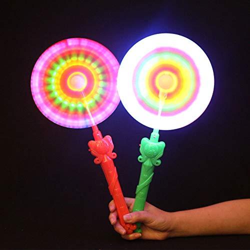 Windmills Flashing Light Up LED and Music Rainbow Spinning Windmill Lights Toy