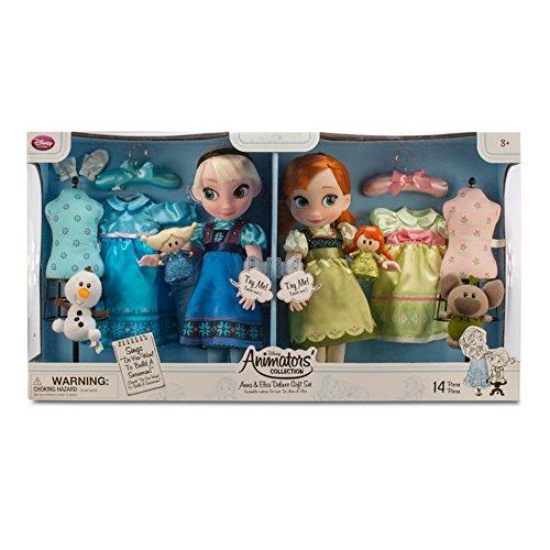 Disney Frozen Anna and Elsa Animators Collection Dolls Deluxe 2015 Set