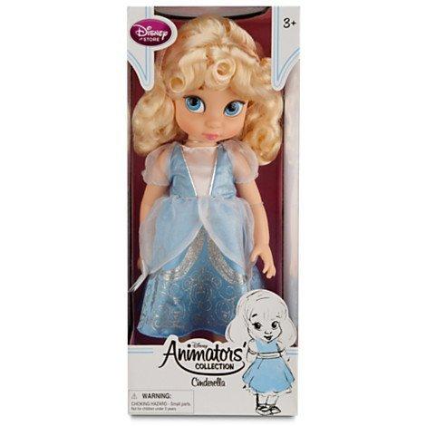 Disney Princess Animators Collection Toddler Doll 16 H - Cinderella with Plush Friend Jaq