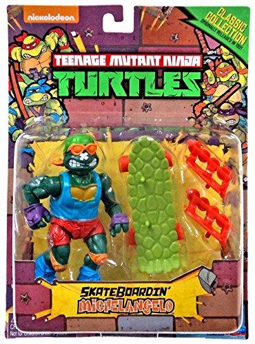 Teenage Mutant Ninja Turtles Classic Collection Skateboardin Michelangelo Action Figure 4 Inches