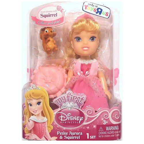 Disney Petite Princess Toddler Doll - Aurora with Squirrel
