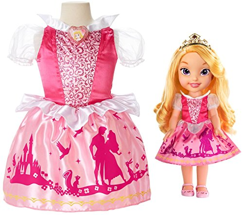 Disney Princess Aurora Toddler Doll Girl Dress Gift Set