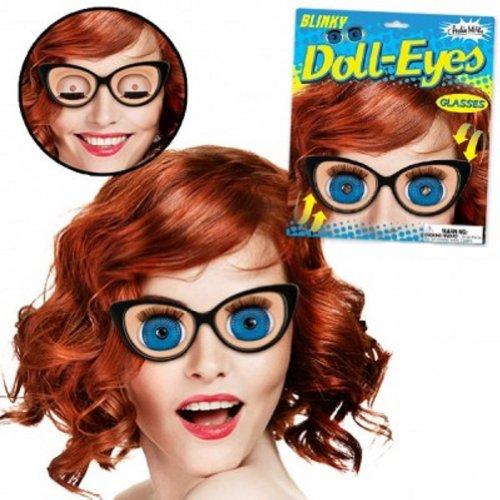 Holographic Blinking Doll Eyes Retro Blinky Glasses