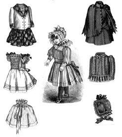 1891 Victorian Doll Wardrobe