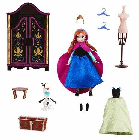 Disney Disney Anna Mini Doll Wardrobe Play Set - Frozen Ana mini doll wardrobe play set parallel import goods