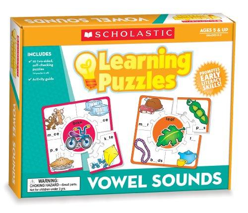 Scholastic Teachers Friend Vowel Sounds Learning Puzzles Multiple Colors TF7153